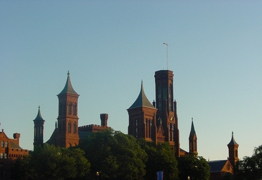 Smithsonian Castle At Sunset